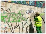 Премахване на графити чрез пясъкоструене от фасади