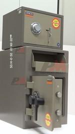 Метален депозитен сейф за магазин, с усилена конструкция